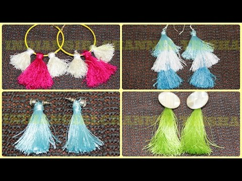 Tassel earrings/How to make silk thread Tassel earrings at home/jewellery making
