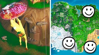 Visita una cara gigante en el desierto, la jungla y la nieve - DESAFÍOS SEMANA 1 DE FORTNITE thumbnail