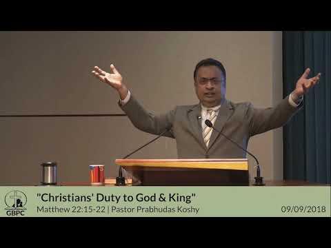 Christians Duty to God & King