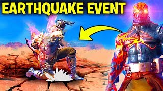 NEW FORTNITE EARTHQUAKE EVENT! - SNOWFALL SKIN ENDING SEASON 7 with STAGE 3 KEY and STAGE 4 KEY