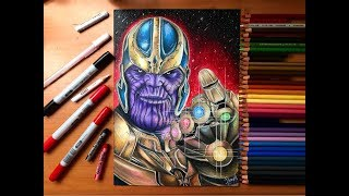 Speed Drawing - Thanos (Avengers: Infinity War) [HD]