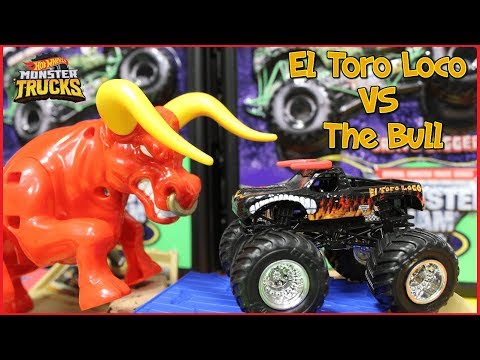 Hot Wheels Monster Jam Trucks El Toro Loco Showdown Play Set for Kids Play Video