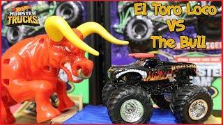 Unboxing Hot Wheels Monster Jam Trucks El Toro Loco Showdown Play Set