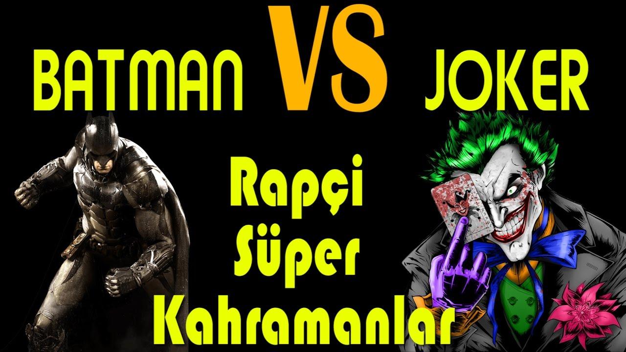 Batman vs Joker Türkçe Rap Düellosu - Rapçi Süper Kahramanlar