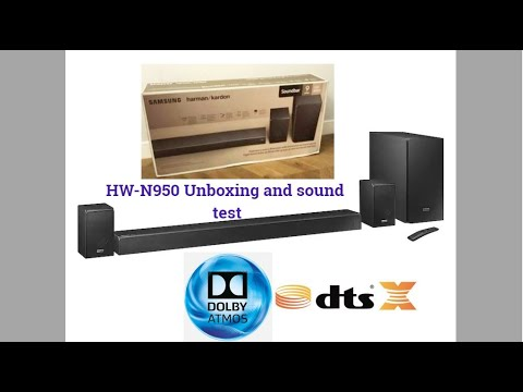 Sound Samsung Atmos Dolby Unboxing Dts-x And Hw-n950 Test