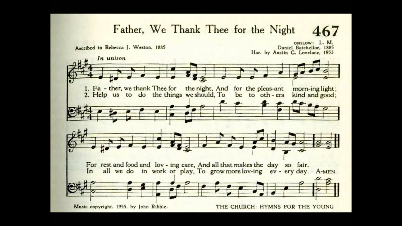 father we thank thee for the night mp3 free download