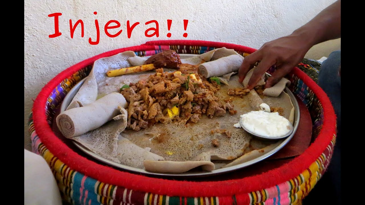How to eat typical ethiopian food injera youtube forumfinder Gallery