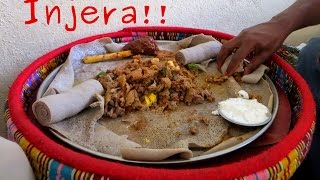 How To Eat Typical Ethiopian Food (injera)