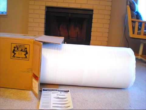 8 Quot Spa Sensation Memory Foam Mattress Youtube