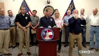 Gov. Brian Kemp, FEMA Officials Hold Press Conference as Hurricane Dorian Approaches Georgia Coast