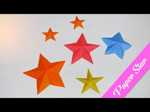 How to make simple & easy paper star | DIY Wall Decoration Paper Star Making Tutorial