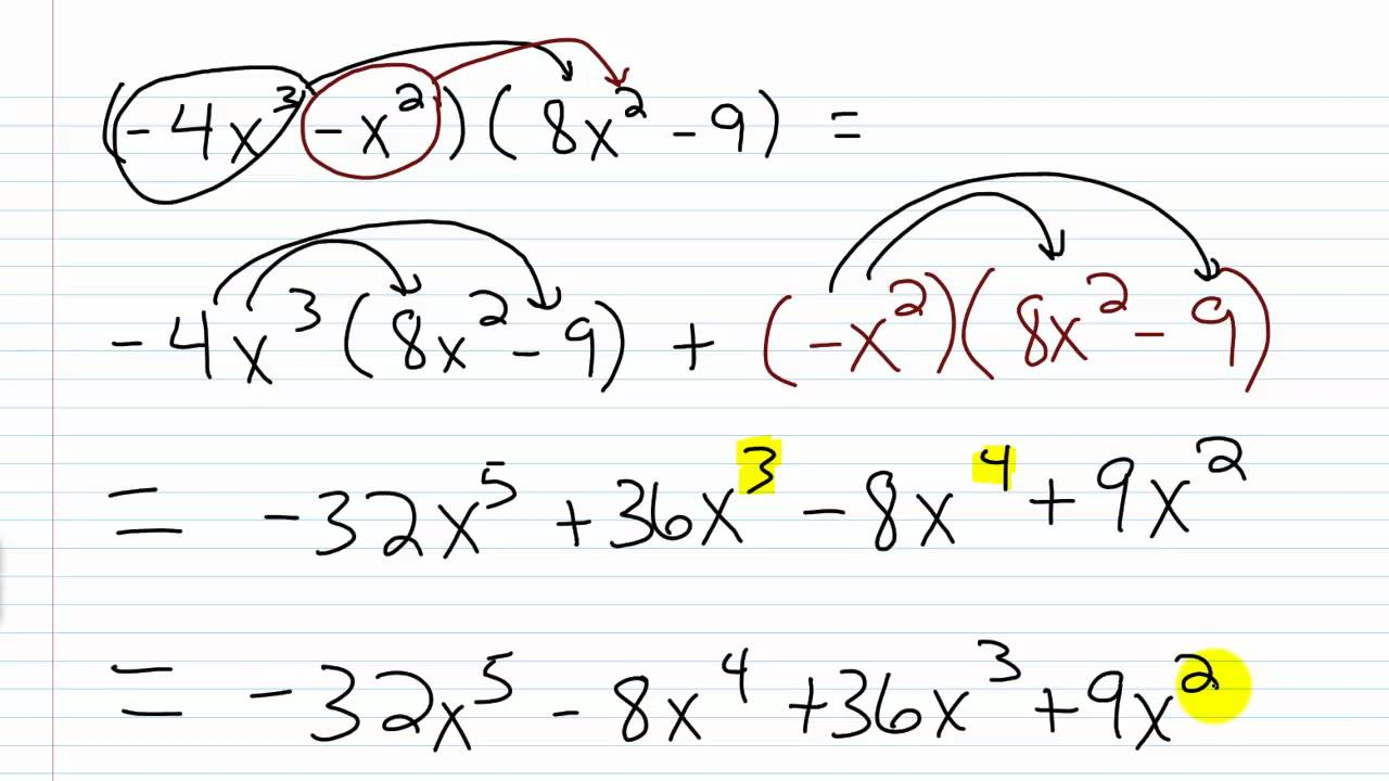 worksheet Algebra 1 algebra i help multiplying polynomials youtube
