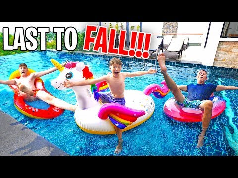 Last To FALL in the POOL Wins $10,000 Challenge!! w/Adam B