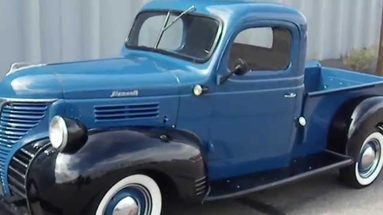 Rare 1941 Plymouth 125 Pickup Truck Featured In Bring A Trailer Mercury Pick Up Youtube
