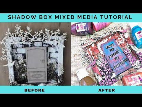 Mixed Media Shadow Box | DIY | Mixed Media Techniques