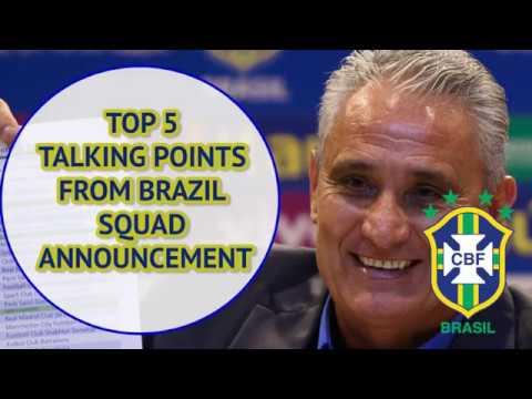 FIFA World Cup 2018: Brazil squad composition raises questions