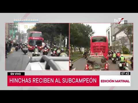 Copa América 2019: multitudinario recibimiento a la selección peruana