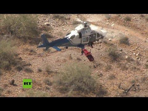 Un helicóptero acude al rescate de una senderista herida y casi acaba matándola