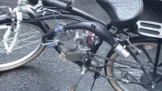 Motorized Bike Schwinn Riverside 66cc engine (UPDATE VIDEO)(This is a update video I did of the bike. In the first couple videos everything was stock. What I added: Sick Bike Parts Expansion Chamber Exhaust Sick Bike Parts ..., 2010-03-16T04:06:10.000Z)