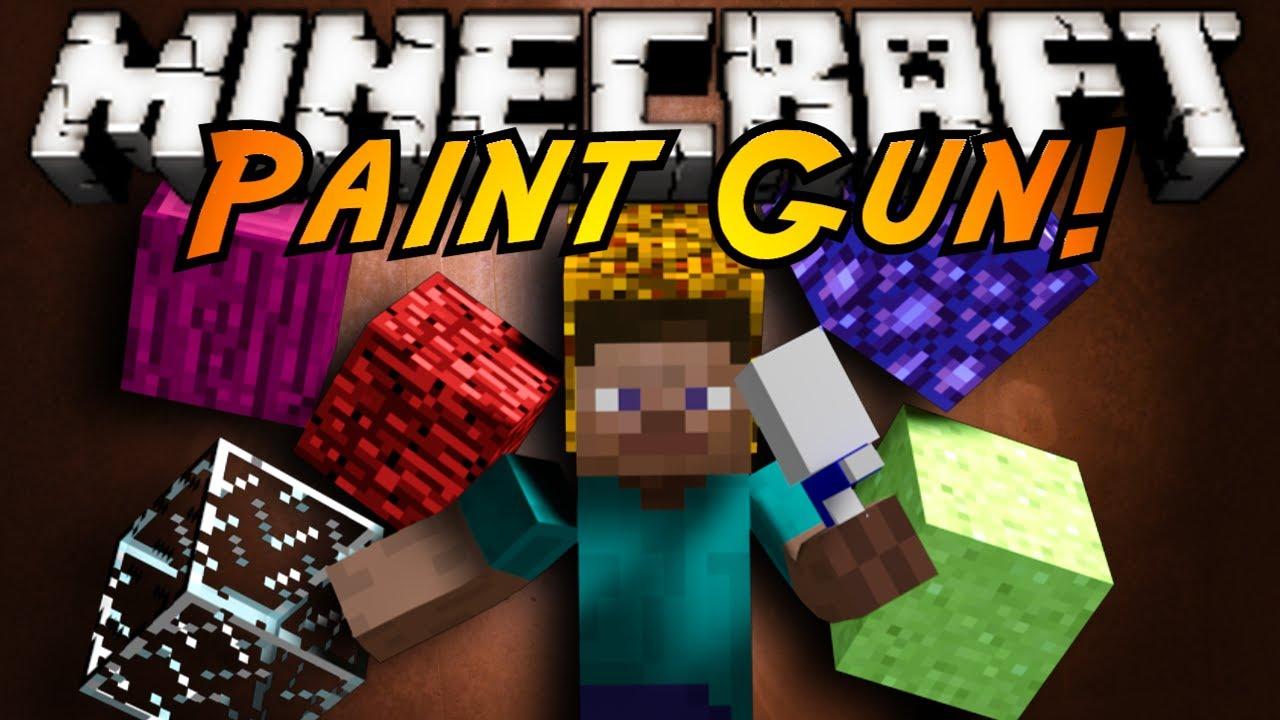 Minecraft mod showcase paint gun youtube