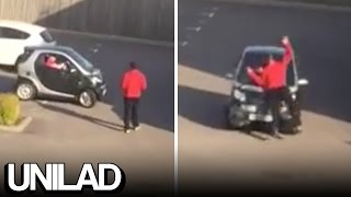 Fight Between Man And Smart Car