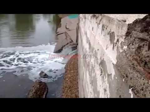 Vecinos indignados filmaron cómo tiran líquidos cloacales al río Limay