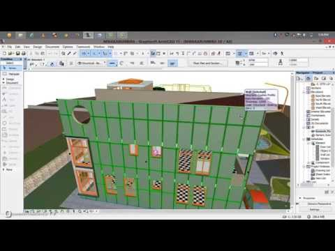 how to create a simple cladding with complex profile in archicad1