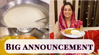 BIG ANNOUNCEMENT | MUH MEETHA KARNA TO BANTA HAI | KHEER PURI RECIPE | DIPIKA KAKAR IBRAHIM