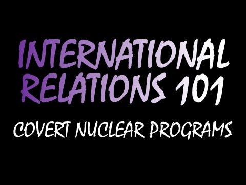 International Relations: Covert Nuclear Programs