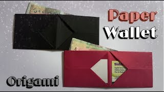 How to make a paper wallet | origami wallet | easy origami idea
