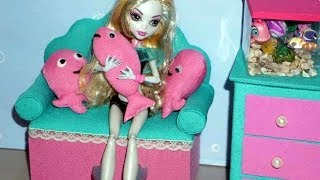 How to make a sofa / couch for Monster High Lagoona Blue doll