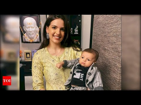 Natasa Stankovic and Hardik Pandyas son Agastya looks absolutely adorable as he celebrates his first