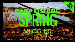 CARP FISHING IN SPRING - FISHING THE ALIEN LAKE - VLOG #5 😀