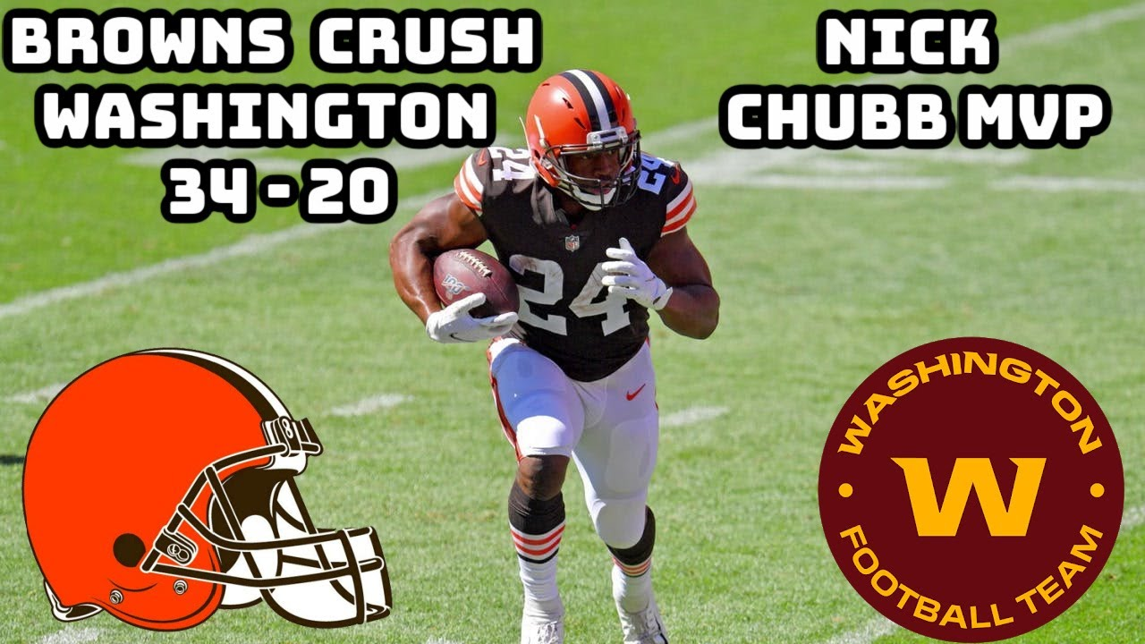 Cleveland Browns goes to 2-1 after beating Washington, 34-20: See ...