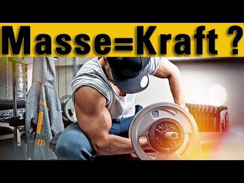 Mehr Kraft = mehr Muskeln?