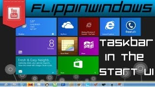 Windows 8 | Add Taskbar in the Start Screen
