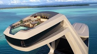 Shaddai superyacht concept features an elevated master cabin - infinity pool 125ft above the water