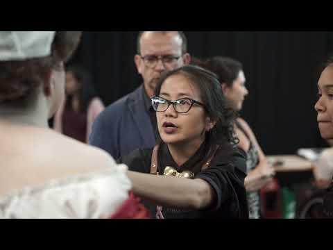 Behind The Scene: Melinda Looi at Shadow In The Sun backstage