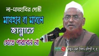 মাযহাব না মানলে জান্নাতে যেতে পারবেন না | Allama Nurul Islam Olipuri | Bangla Waz 2019