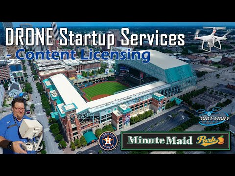 Aerial Drone Video   Minute Maid Park   Houston Astros