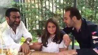 وائل جسار يغني لابنته مع جورج خباز