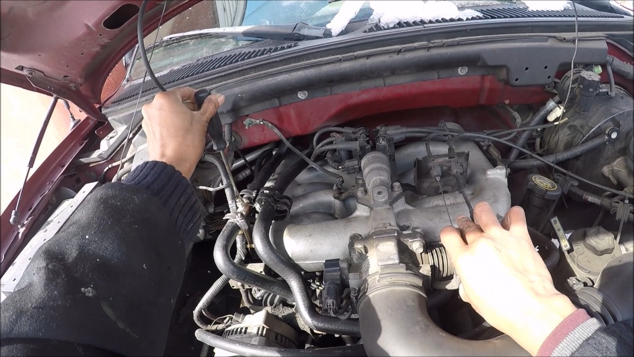 how to bleed air from a ford f150 cooling system heater core [ 1280 x 720 Pixel ]