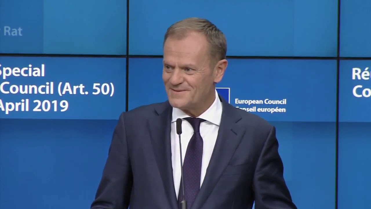 President Tusk & President Juncker press conference following EU Council on  Brexit extension