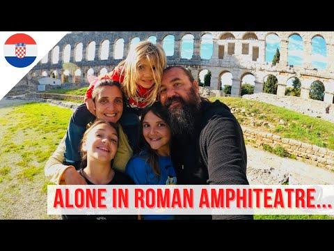EXPLORING ROMAN ANCIENT RUINS in Pula, Croatia - Family Travel