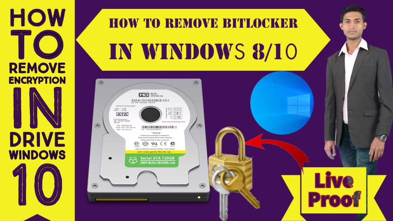 How To Remove BITLOCKER ENCRYPTION In Windows 10  How to ...