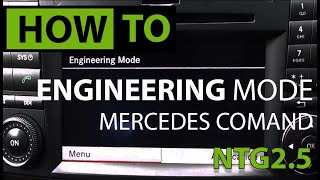 HOW TO: Access Engineering Menu - Mercedes COMAND NTG 2.5