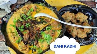 DAHI KADHI PAKORAS. || HOW TO MAKE DAHI KADHI || DAHI KI KADHI KAISE BANAYE
