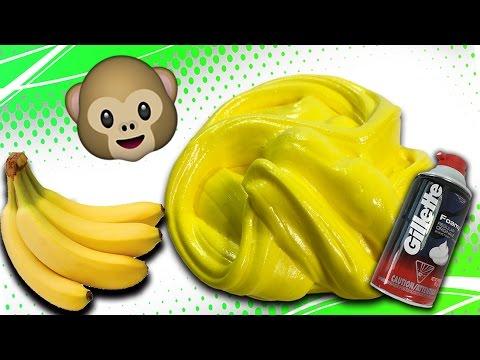 Make Fluffy Banana Slime! No Borax