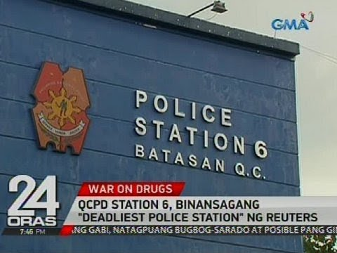 "QCPD Station 6, binansagang ""deadliest police station"" ng Reuters"