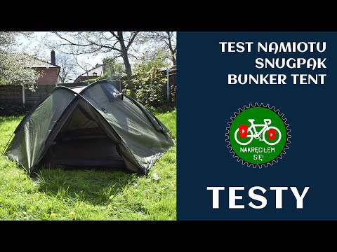 Test namiotu Snugpak Bunker Tent. & Test namiotu Snugpak Bunker Tent. - YouTube